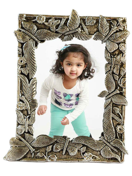 Metal Antique Finish Rectangular Photo Frame-EC-HJRWME1SP34