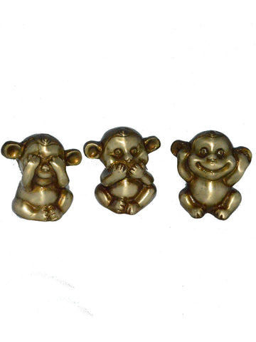 3 Musketeers Monkey Set Brass Decorative - EC-HJRME24MA270