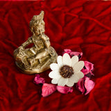 Antique Finish Brass Laddu Gopal eating Makhan - EC-HJRME24MA215