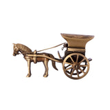 Brass Antique Finish Horse Carriage Showpiece - EC-HJRME24MA118