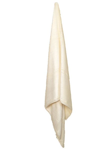 Bamboo Beach Towel In White - BHDBCT11AP3