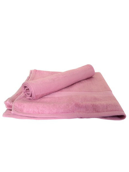 Bamboo Bath Towel And Hand Towel Set In Pink - BHDDB11AP2