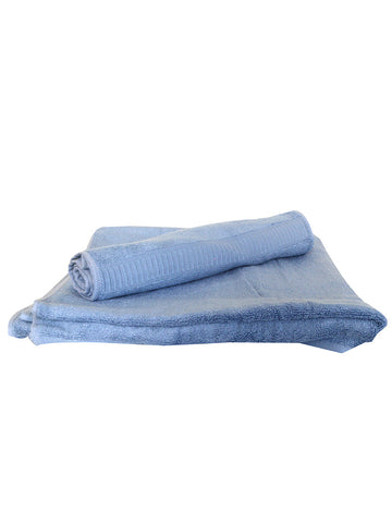 Bamboo Bath Towel And Hand Towel Set In Blue - BHDDP11AP1