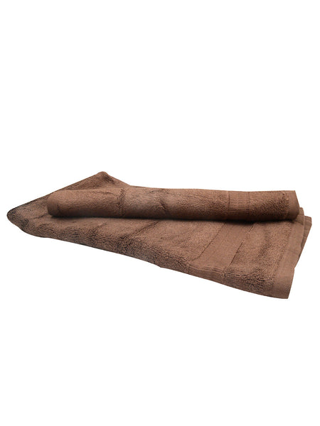 Set Of 2 Bamboo Hand Towels In Brown - BHDFT13AP15