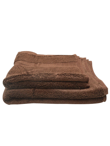 Set Of 4 Bamboo Face Towel In Brown (HEAVY) - BHDHF13AP9A