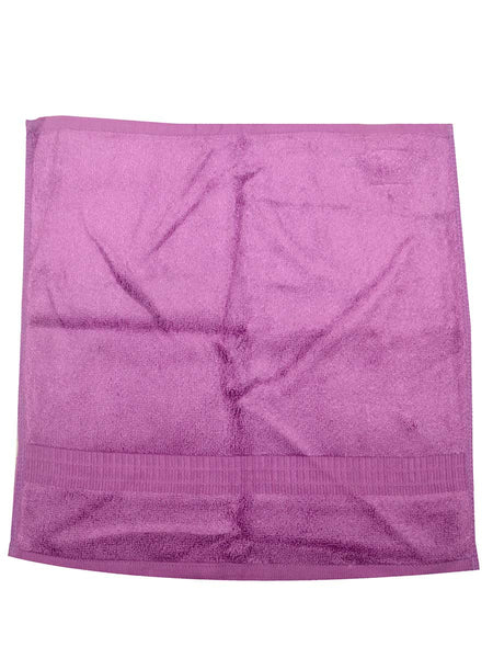 Set Of 4 Bamboo Face Towel In Purple (HEAVY) - BHDHT13AP8B