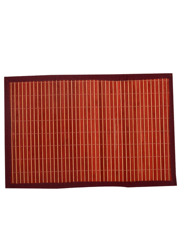 Bamboo Stripes Design Table Mats In Red - BHDPM26JN4