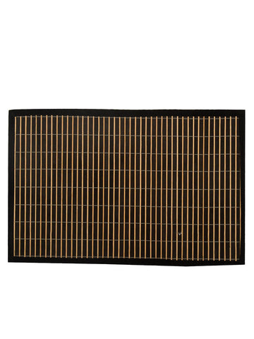 Bamboo Stripes Design Table Mats In Black - BHDPM26JN5