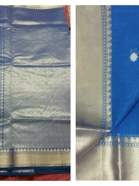 Banarasi Saree In Blue - AC-PSA11AG29