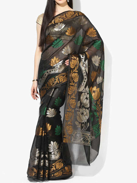 Banarasi Saree In Organza Black - RB-BPBUSA11JL300