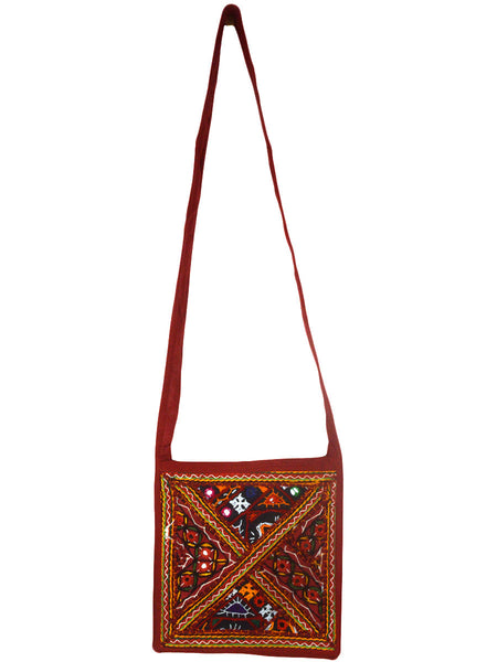 Shoulder Bag From  Gujarat In Brown & Multi Color-CKGBS28JV2
