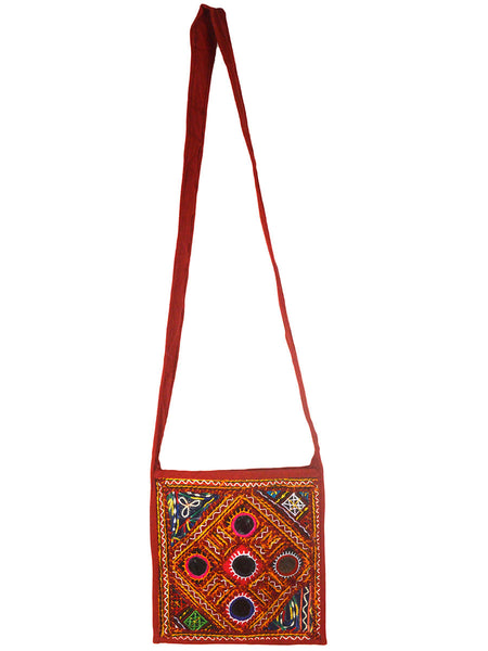 Shoulder Bag From  Gujarat In Brown & Multi Color-CKGBS28JV4