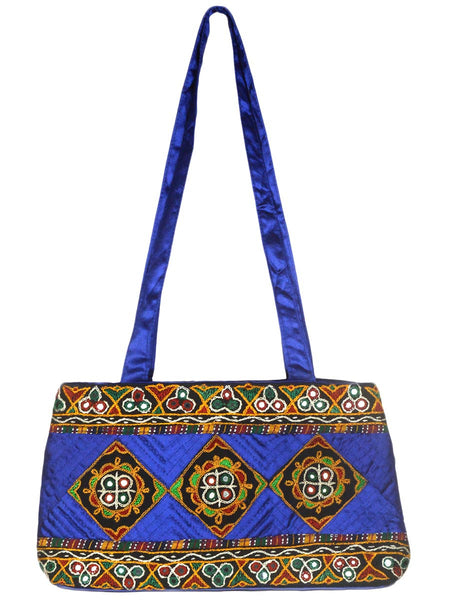 Shoulder Bag From Gujarat In Blue-CKGBS28JV6