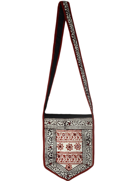 Shoulder Bag From  Gujarat In White & Multi-CKGBS28JV16