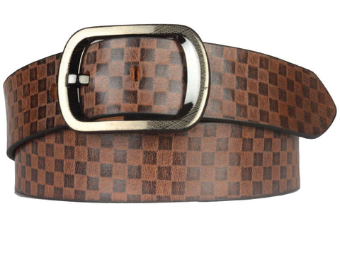 Brown Formal Kanpur Leather Belt-CKMB23MR5