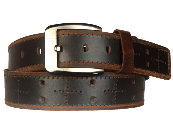 Black Formal Kanpur Leather Belt-CKMB23MR11