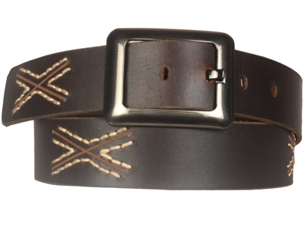 Kanpur Leather Belt In Brown - CKMB23MR12