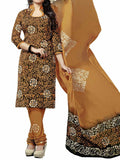 Cotton Suit From Kolkata In Brown - FPKWA9AG4