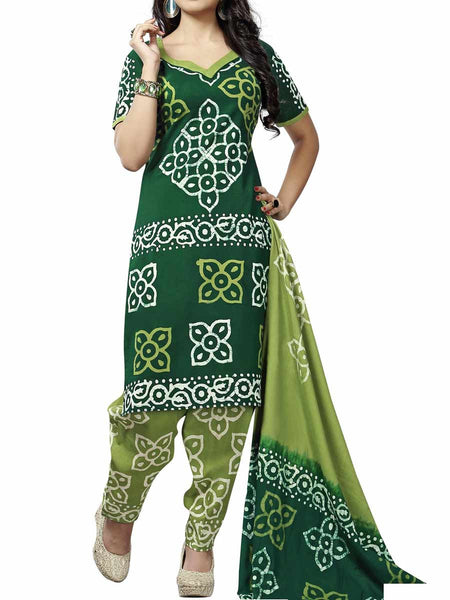 Cotton Suit From Kolkata In Green - FPKWA9AG5