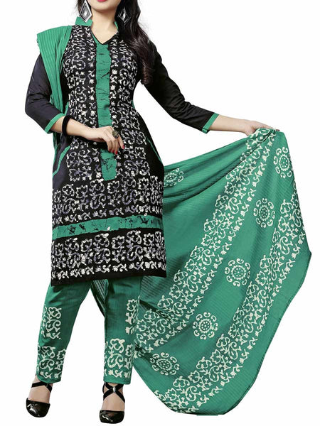 Cotton Suit From Kolkata In Black - FPKWA9AG6