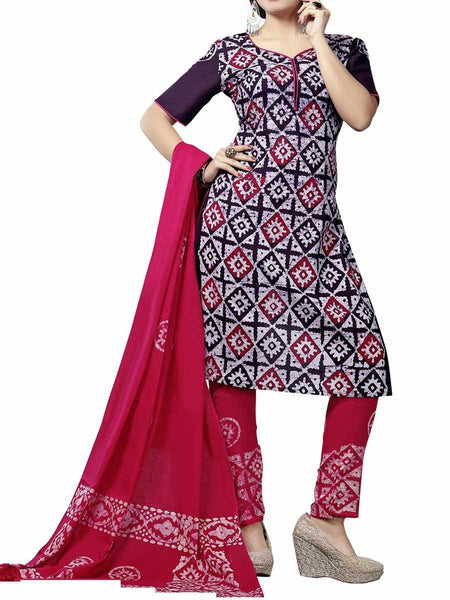 Cotton Suit From Kolkata In Multicolour - FPKWA9AG7