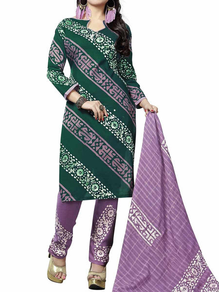 Cotton Suit From Kolkata In Green - FPKWA9AG8