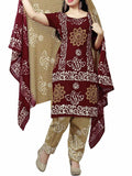 Cotton Suit From Kolkata In Maroon - FPKWA9AG9