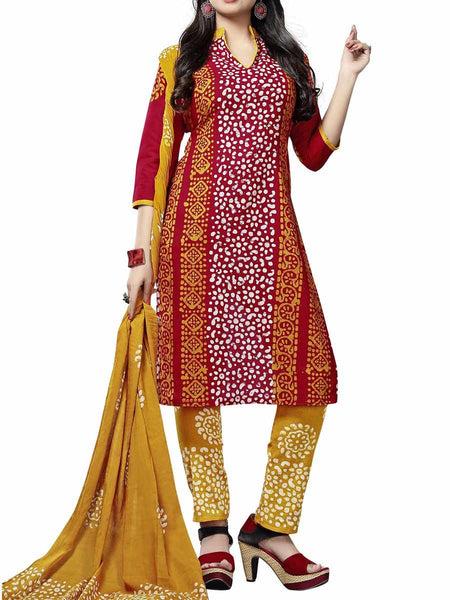 Cotton Suit From Kolkata In Multicolour - FPKWA9AG10