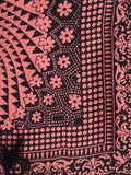 Art Silk Dupatta From Bhagalpur In Salmon Pink - CBBD12JY44