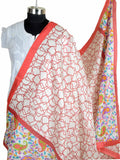 Art Silk Dupatta From Bhagalpur In White - CBBD7AP1