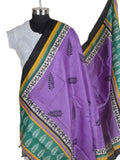 Art Silk Dupatta From Bhagalpur In Purple - CBBD7AP53