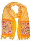 Art Silk Dupatta From Bhagalpur In Yellow - CBBDR18MH34