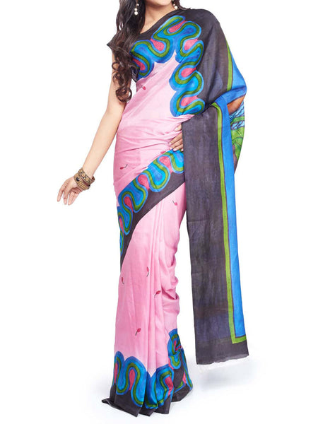 Pure Tasar Silk  Saree From West Bengal - PWBSAI13AG7