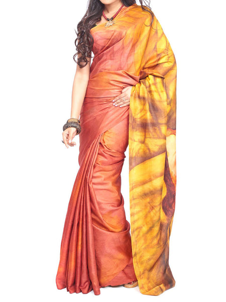 Pure Sonamukhi Silk  Saree From West Bengal - PWBSAI13AG17