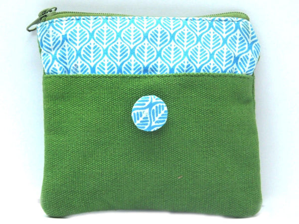 Green Canvas Coin Pouch - CFMB21MH1
