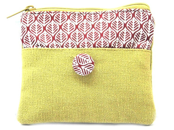 Beige Canvas Coin Pouch - CFMB21MH2
