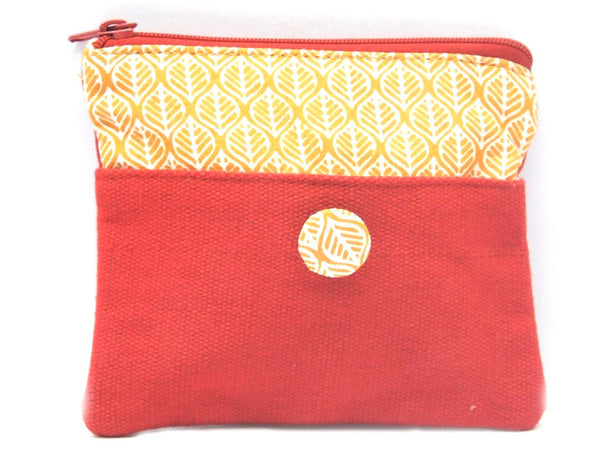 Red Canvas Coin Pouch - CFMB21MH3