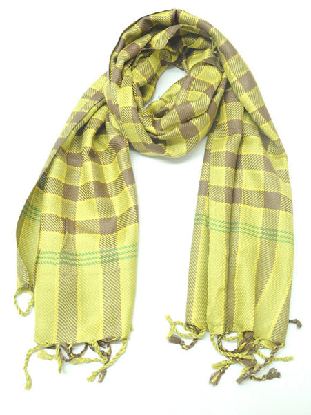 Yellow Viscose Stole - CFMS21MH5