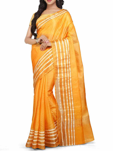 Banarasi Saree In Gold - S1-PBUSA4AG34