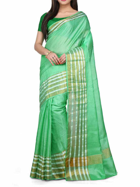 Banarasi Saree In Light Green - S1-PBUSA4AG38