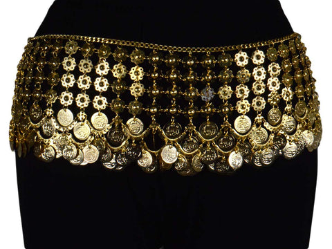 Waist Belt Brass Moradabad In Golden Color - CHUJW1AG15