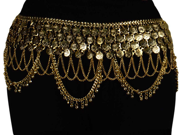 Waist Belt Brass Moradabad In Golden Color - CHUJW1AG20