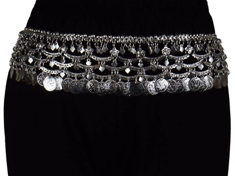 Waist Belt Brass Moradabad In Sliver Color - CHUJW1AG6