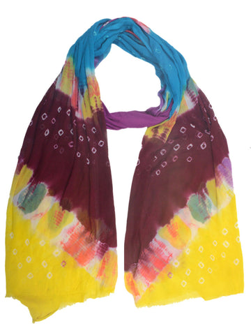 Bandhej Dupatta From Jodhpur In MultiColour - CJORDH20FBY2