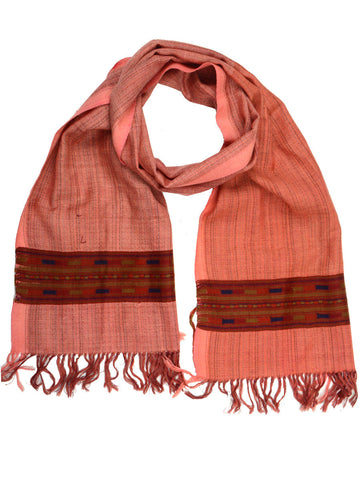 Muffler From Kullu In Ochre Brown - CKHM4SP10