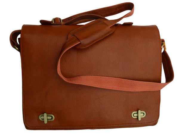 Kanpur Leather Laptop Bag In Brown - CKLB9OCT9