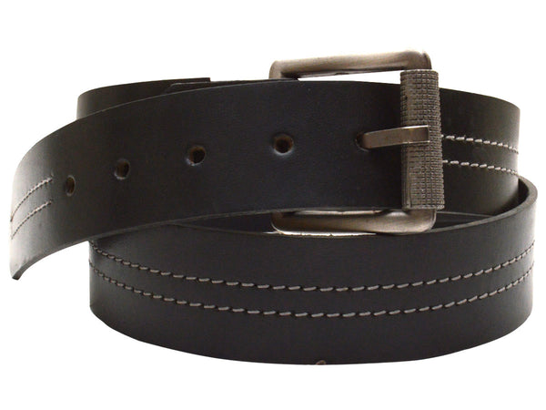 Black Formal Kanpur Leather Belt - CKMB2SP11
