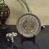 Marble Set Of Fish Printed Plate & Saluting Elephant-EC-HJRME5MY59