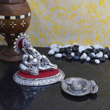 Metal Combo Of Lord Ganesha Idol & Incense Stick Holder-EC-HJRWME13JN16