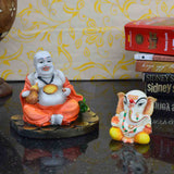 Combo of Lord Ganpati Statue and Laughing Buddha - EC-HJRSF3AG35